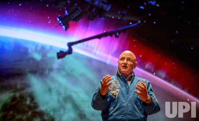 Scott Kelly discusses his historic mission aboard the ISS in Washington, DC