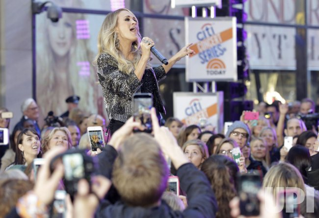 Carrie Underwood performs on the NBC Today Show
