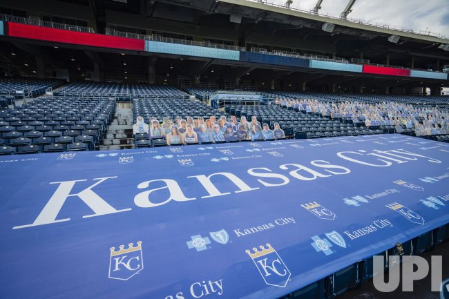Carboard Cutouts Take the Place of Fans for the White Sox vs Royals in Kansas City
