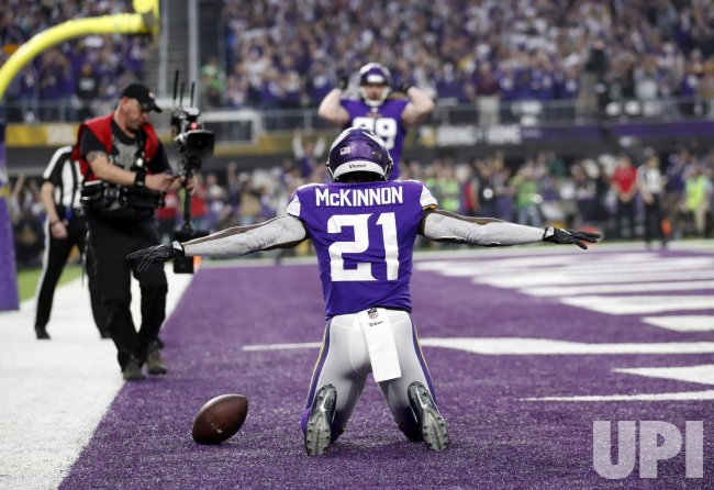 Vikings McKinnon scores touchdown in the NFC Divisional playoff