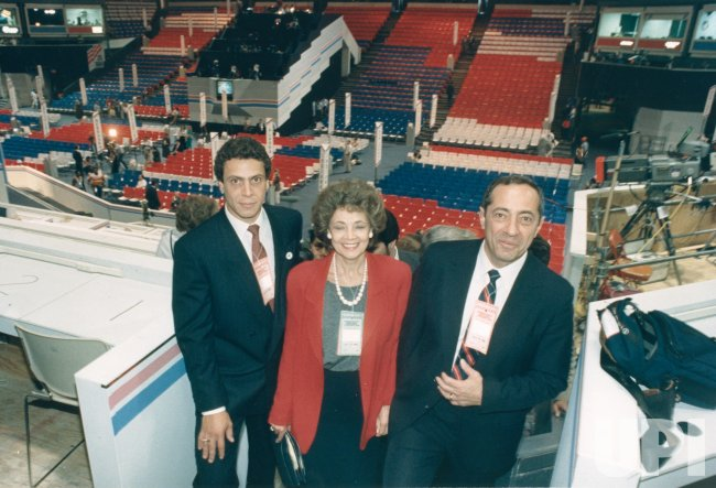 Gov. Mario Cuomo and family at 1988 Democratic National Convention in Atlanta
