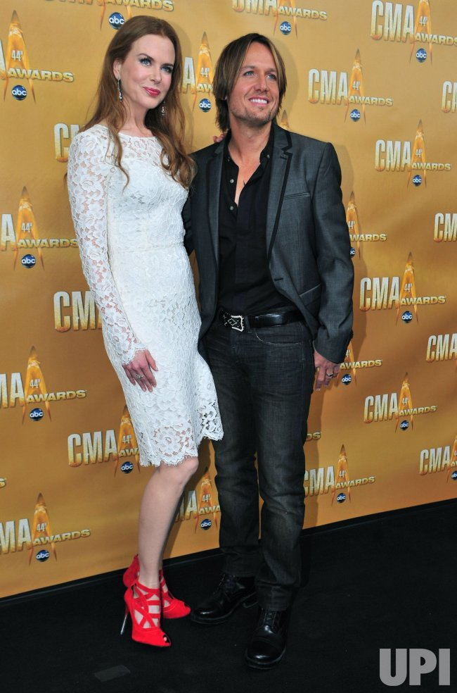 Keith Urban and Nicole Kidman arrive for the Country Music Awards in Nashville