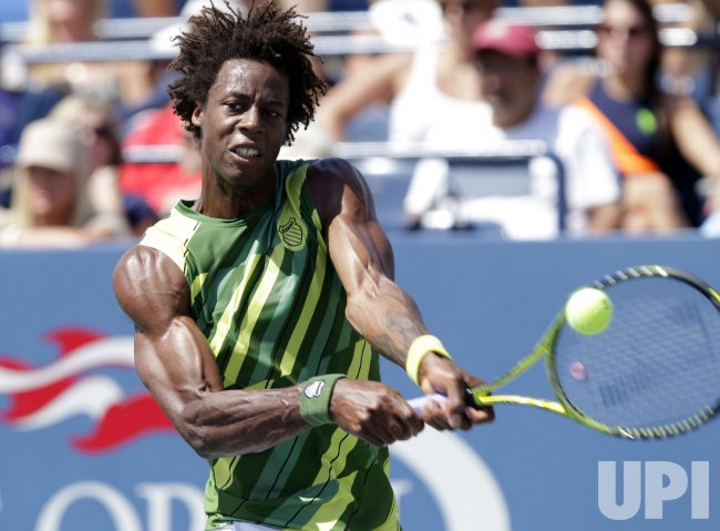 Gael Monfils at the U.S. Open Tennis Championships in New York