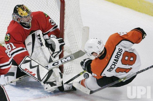 NHL HOCKEY PHILADELPHIA FLYERS VS CHICAGO BLACKHAWKS