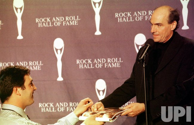 James Taylor inducted into the Rock and Roll Hall of Fame