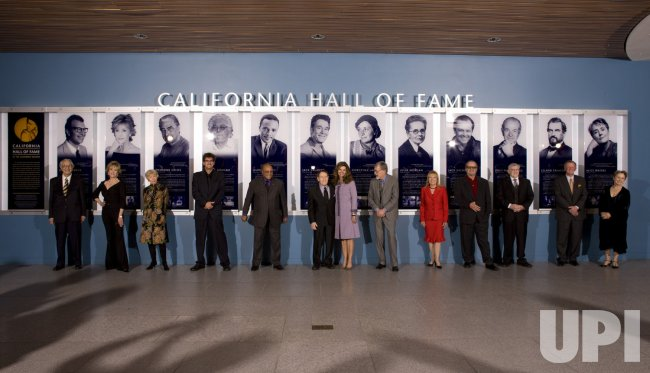 Governor Arnold Schwarzenegger and First Lady Maria Shriver induct 12 Honorees into the 2008 California Hall of Fame