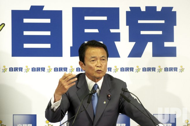 Aso scored a landslide victory in LDP's presidential election