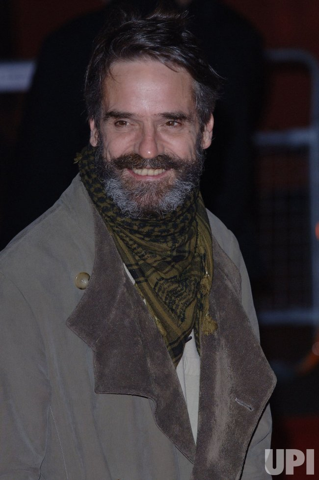 "ACTOR JEREMY IRONS AT ""CASANOVA"" BRITISH PREMIERE"