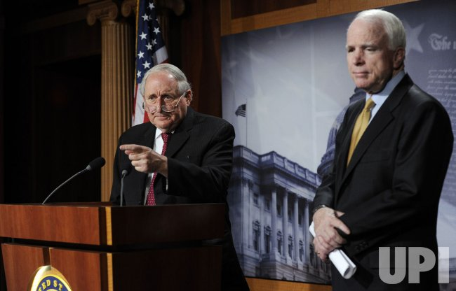 Sens. Levin, McCain hold Capitol Hill news conference on counterfeit electronic defense parts sold in China