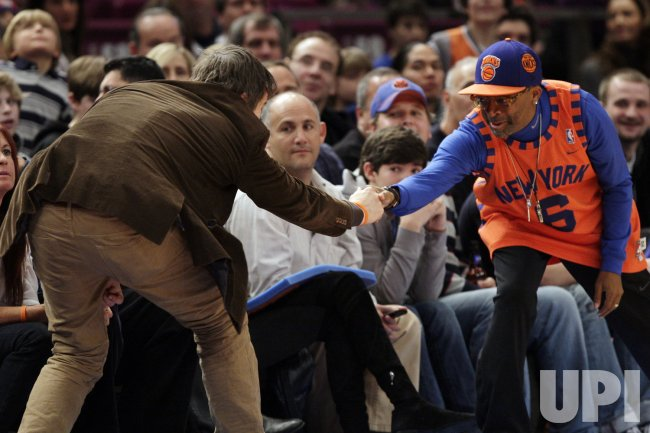 Ethan Hawke and Spike Lee at Madison Square Garden in New York