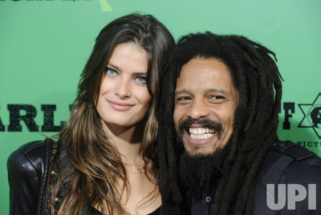 "Rohan Marley and Isabella Fontana attend the premiere of the film ""Marley"" in Los Angeles"
