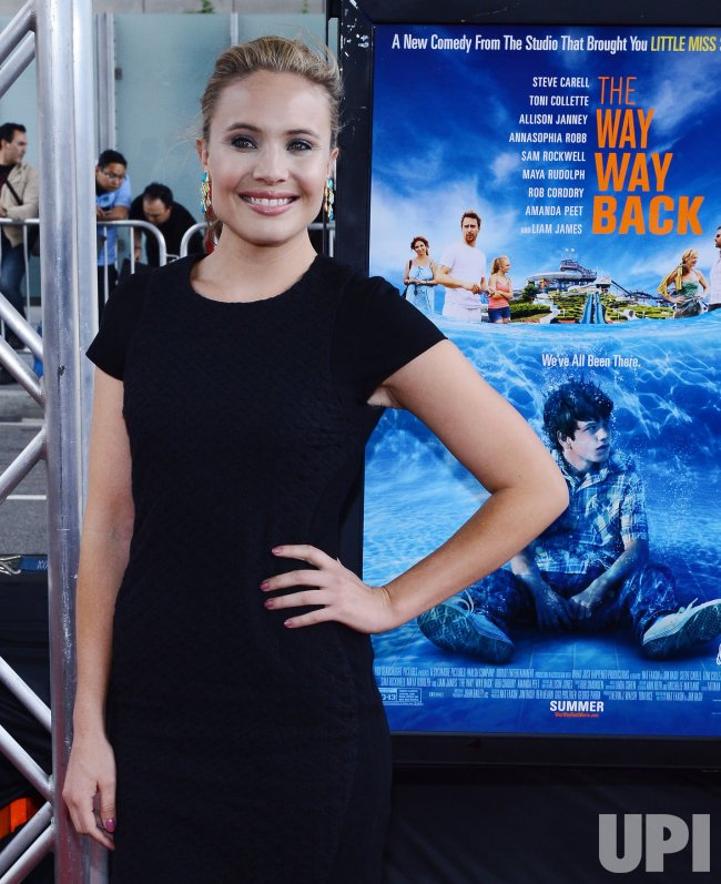 "Leah Pipes attends ""The Way, Way Back"" premiere in Los Angeles"