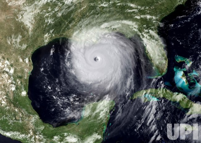 Archive photo shows Hurricane Katrina in the Gulf of Mexico