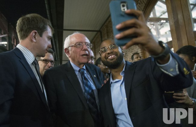 Democratic presidential candidate Bernie Sanders attends the Clyburn Fish Fry