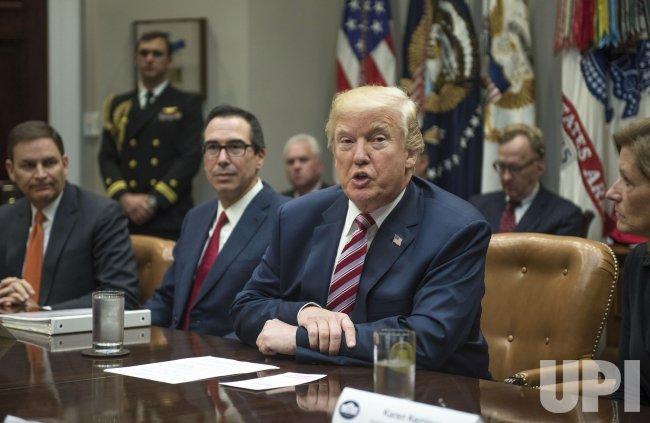 Trump participates in tax reform meeting