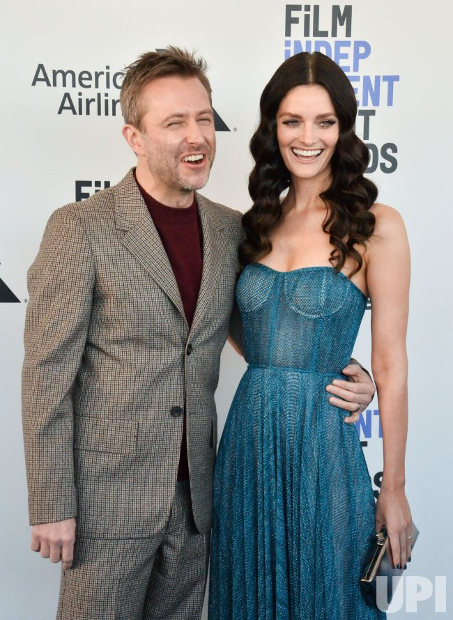 Chris Hardwick and Lydia Hearst attend the Film Independent Spirit Awards in Santa Monica