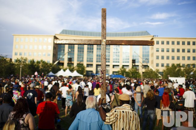 Vigil for shooting victims in Aurora, Colorado