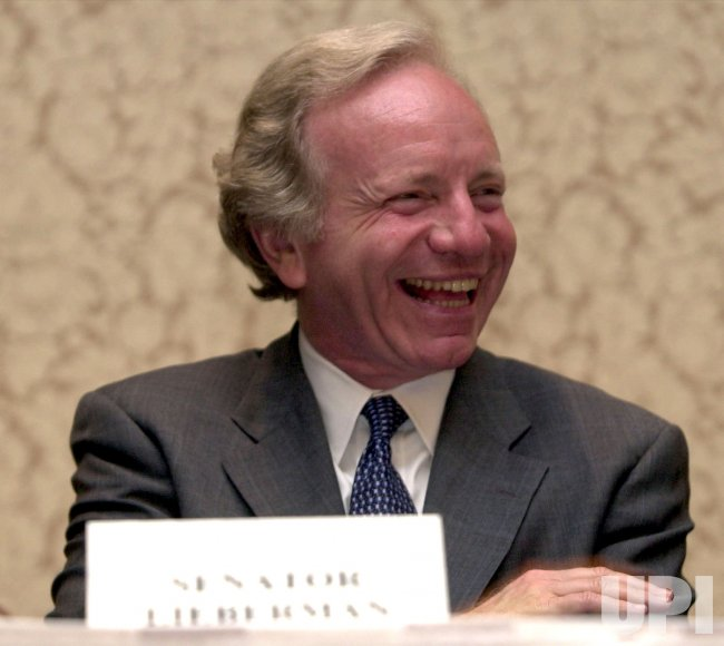Senator Joseph Lieberman visits Dallas, Texas