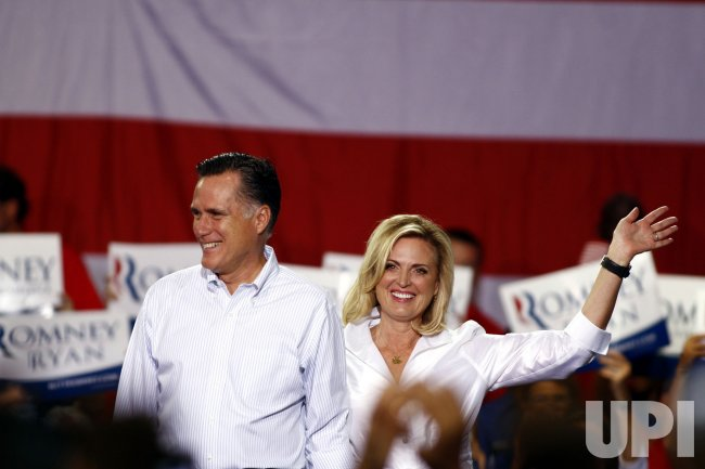 Republican Presidential candidate Mitt Romney campaigns in Mooresville, North Carolina