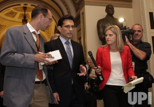 House Majority Leader Eric Cantor (R-VA) walks from the House chamber
