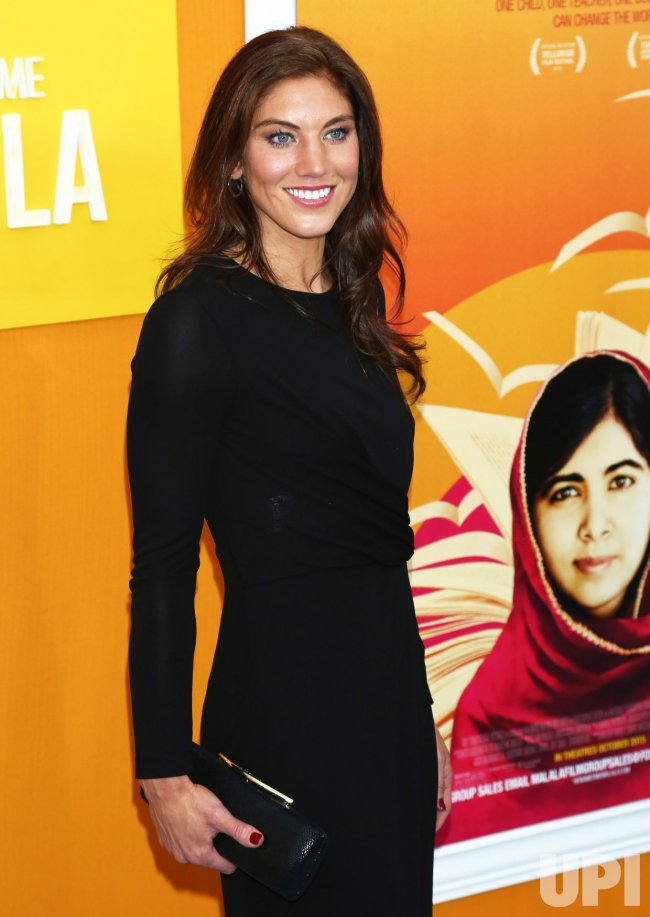 "Hope Solo attends the premiere of ""He Named Me Malala"" in New York"