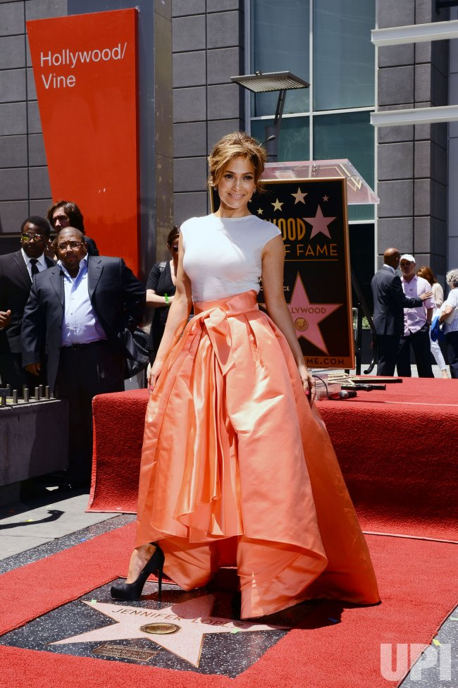 Jennifer Lopez receives a star on the Hollywood Walk of Fame in Los Angeles