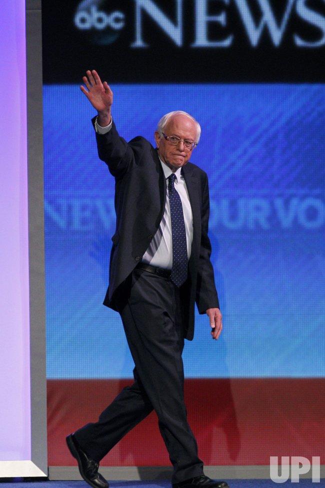 Bernie Sanders at Democratic Presidential Debate in New Hampshire