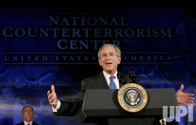 Bush Visits National Counterterrorism Center