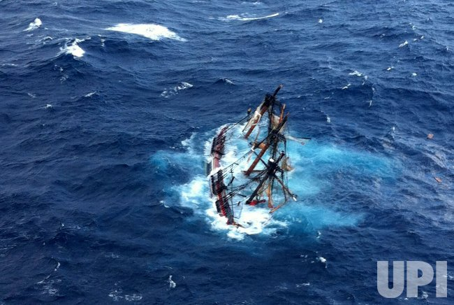 HMS Bounty is Submerged in the Atlantic