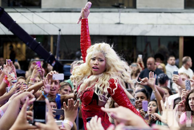 Nicki Minaj on the NBC Today Show in New York