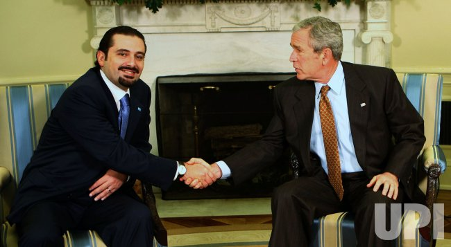U.S. PRESIDENT BUSH MEETS WITH HARIRI IN WASHINGTON