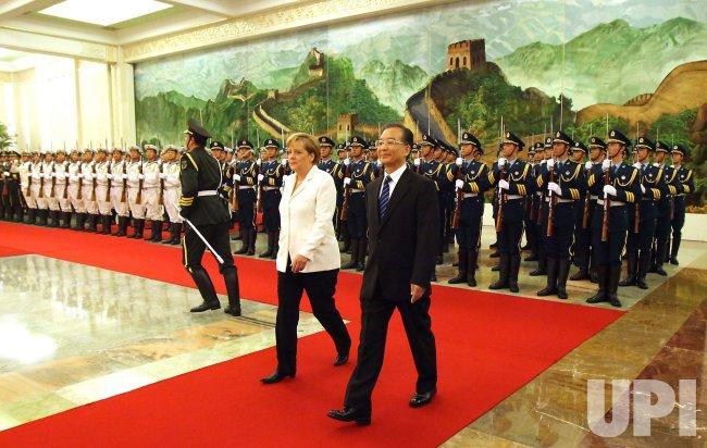 German Chancellor Merkel meets China Prime Minister Wen in Beijing