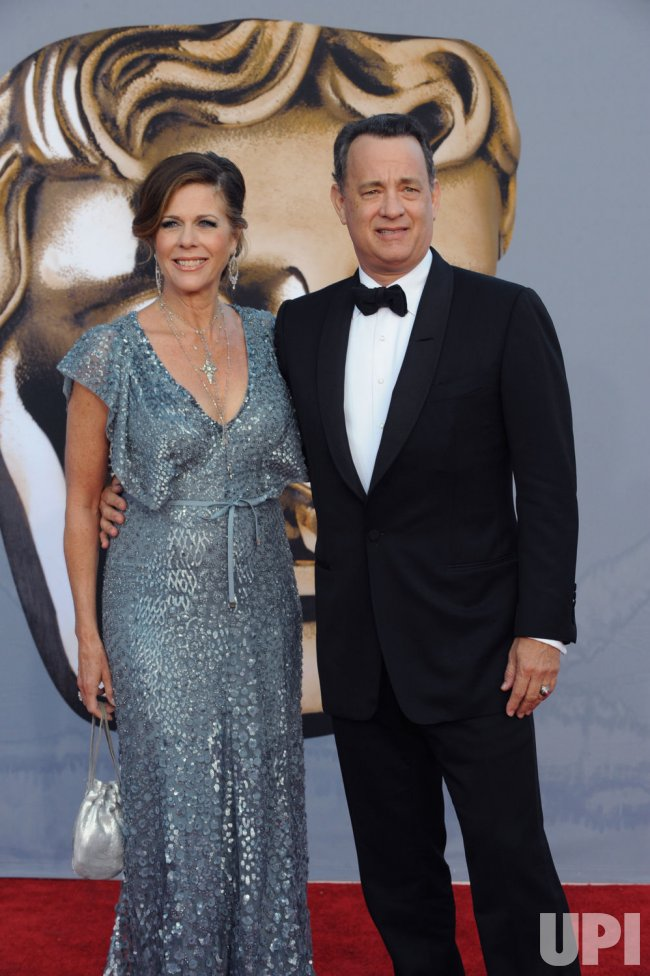 Tom Hanks and Rita Wilson arrive for the BAFTA Brits to Watch dinner in Los Angeles