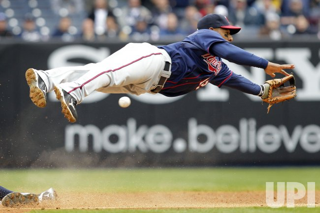 Minnesota Twins Alexi Casilla at Yankee Stadium in New York