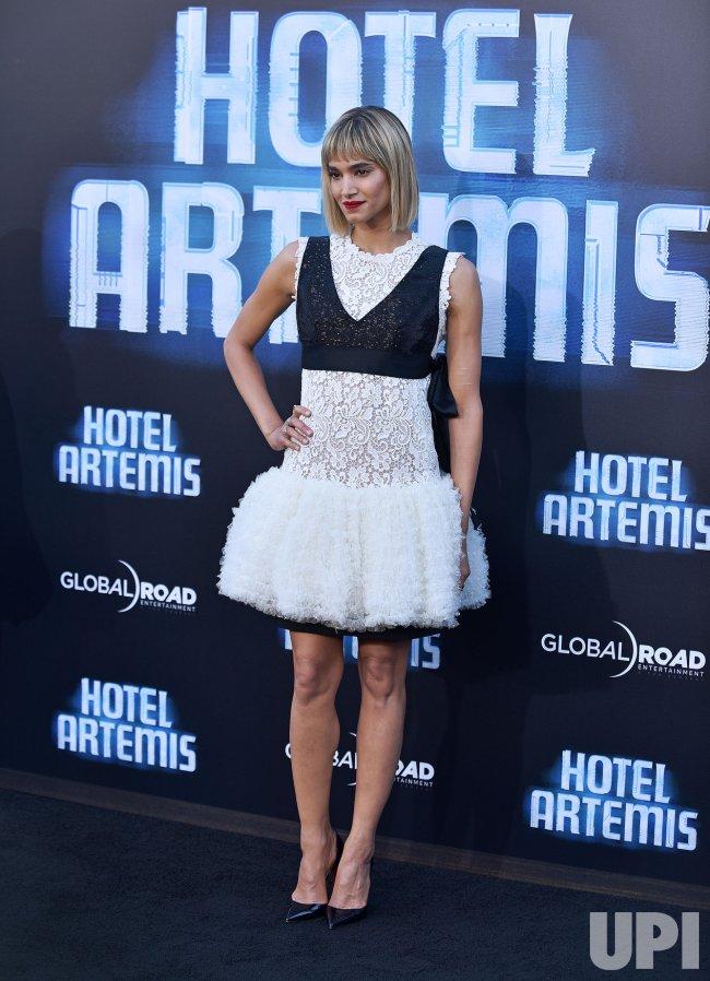 Sofia Boutella Attends Hotel Artemis Premiere In Los Angeles