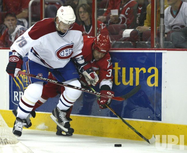 MONTREAL CANADIENS AT CAROLINA HURRICANES