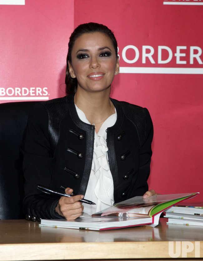Eva Longoria signs copies of her new book in New York