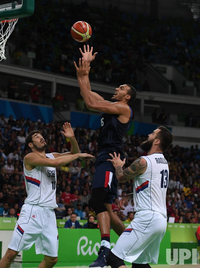 Rudy Gobert of France in Basketball at 2016 Rio Summer Olympics