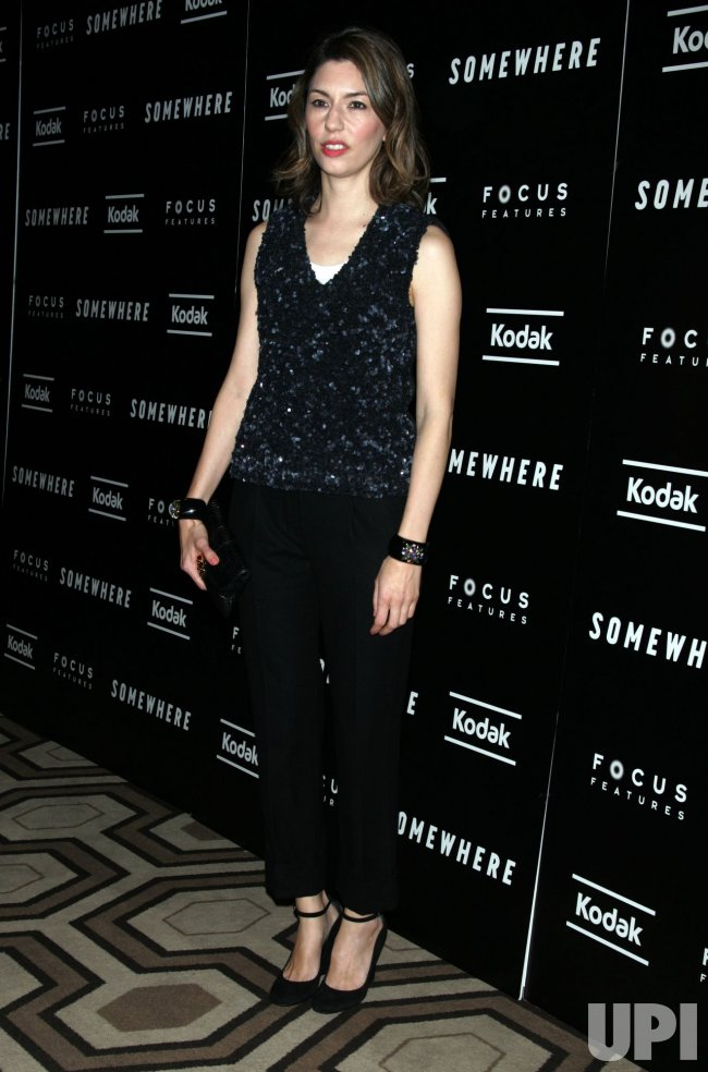 """Sofia Coppola arrives for the Special Screening of """"Somewhere"""" in New York"""