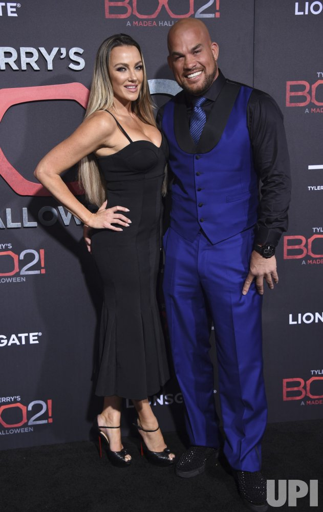 "Tito Ortiz and Amber Nichole Miller attend ""Tyler Perry's Boo 2! A Madea Halloween"" premiere in Los Angeles"
