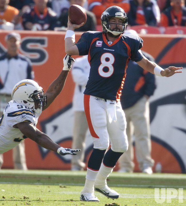 The Denver Broncos Host the San Diego Chargers in Denver