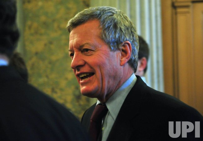 Sen. Max Baucus (D-MT) arrives to vote on cloture on H.R 4853 (Middle Class Tax Relief Act of 2010) in Washington