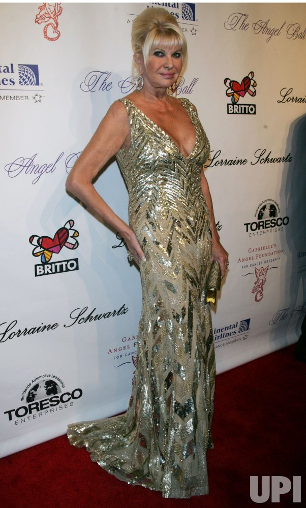 Ivana Trump arrives for Gabrialle's Angel Foundation for Cancer Research Angel Ball 2010 in New York