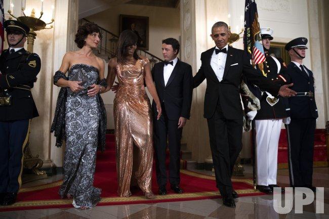 President Barack Obama hosts Italian Prime Minister Matteo Renzi for state dinner