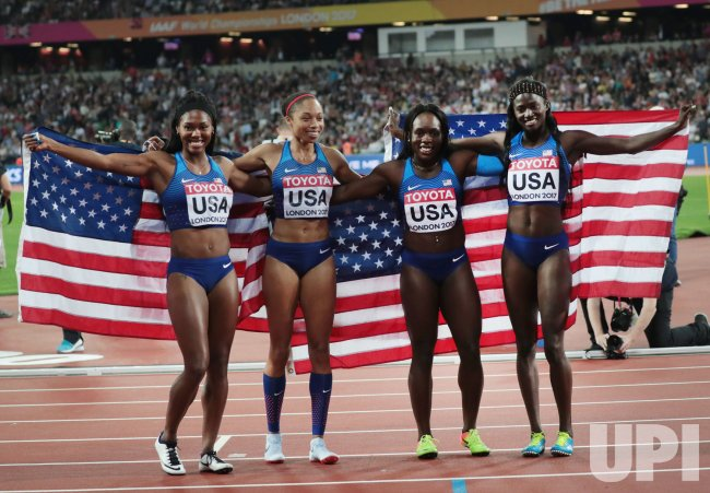 Womens 4 x 100 Metres Relay Final at 2017 IAAF World Championships
