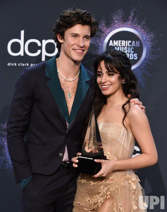 Shawn Mendes and Camila Cabello wins award at American Music Awards in LA
