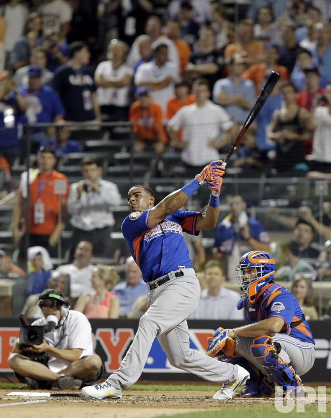 Oakland A's Yoenis Cespedes wins the Chevrolet Home Run Derby at Citi Field
