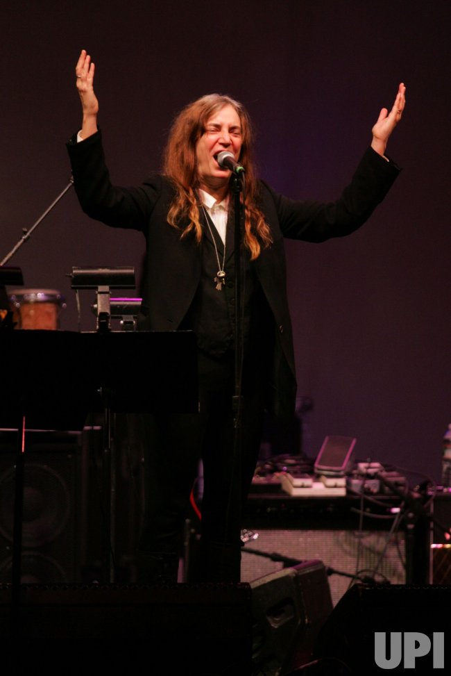 Patti Smith performs at the Theatre Within's 30th Annual John Lennon Tribute in New York