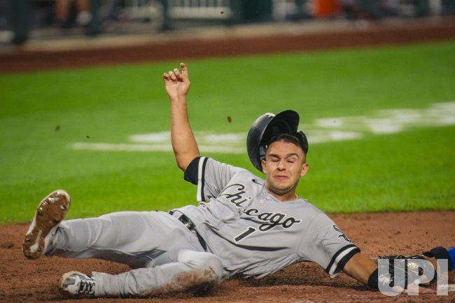 White Sox Nick Madrigal is Tagged Out at Home Plate