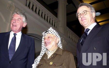 Yasser Arafat visits Hague